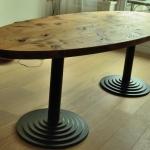 grenen ellipsvormige tafel 003
