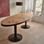 grenen ellipsvormige tafel 001