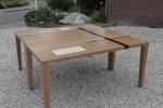 kersen houten tafel met esdoorn inleg