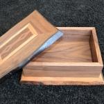 noten houten bewaarkistje