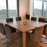 Op maat gemaakte tafel van Zebrano hout