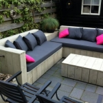 Lounge banken van steigerhout